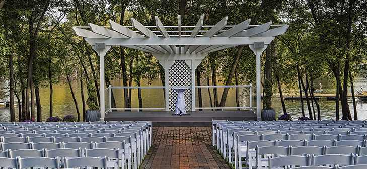 Celebrations Center Court Outdoor Wedding Altar for Outdoor Wedding Ceremony in La Crosse, WI