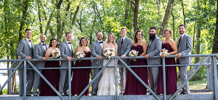 VIP Wedding Package at Celebrations on the River in La Crosse, WI. Wedding package for wedding ceremony and reception party.